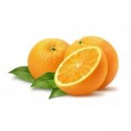 Naranja natural con hoja